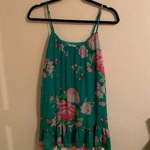 A&F green flowy dress